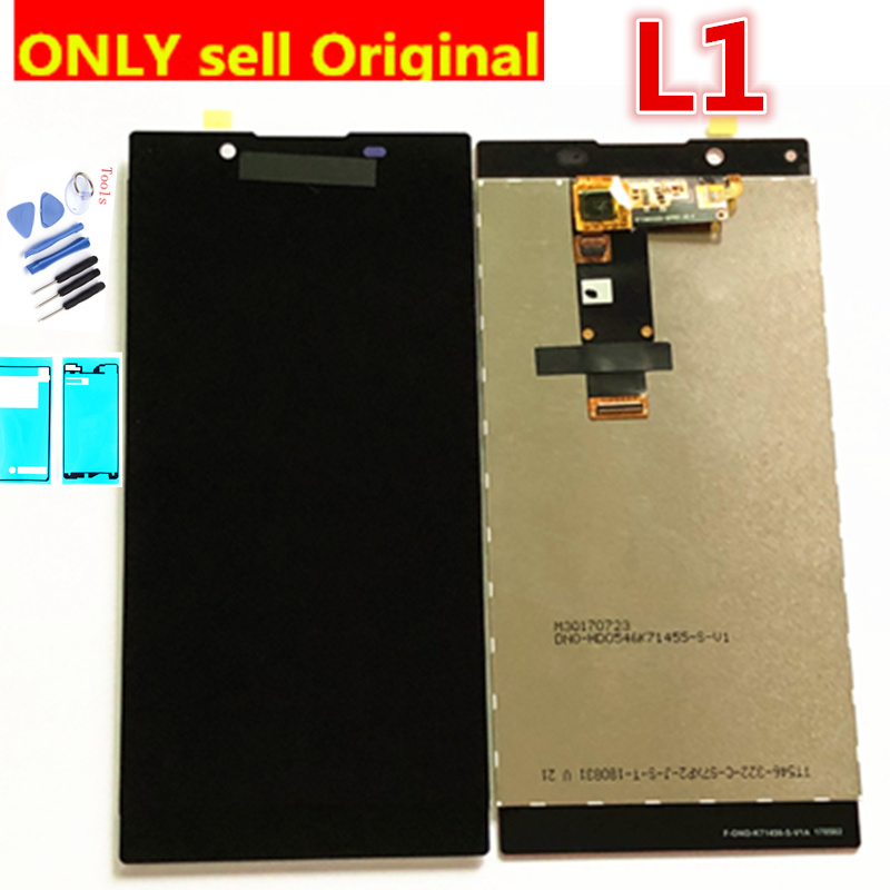 Original LCD Display For Sony Xperia L1 G3312 Touch Screen Digitizer Sensor Panel Assembly 5.5 Inch G3311 G3313 LCD