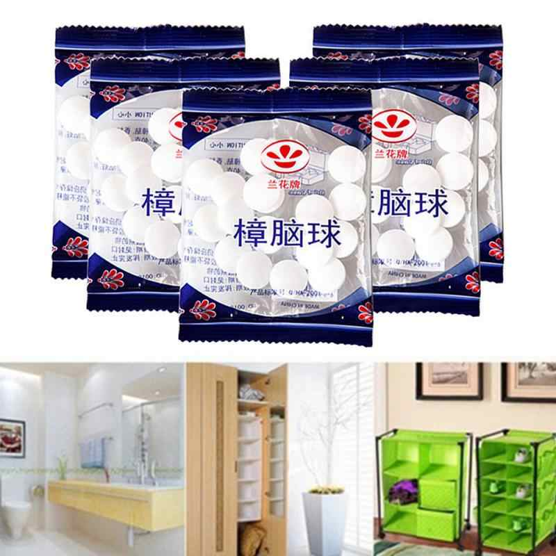 20pcs/bag Camphor ball Wardrobe Odor Removal Insect-resistant Moth-proofing Natural Camphor Ball Drawer Deodorizer Naphthalene