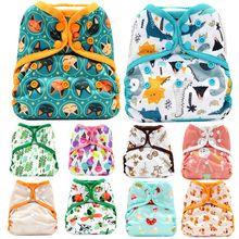 Asenapy um tamanho fralda capa de pano fraldas respirável pull bebê fralda s m l ajuste ajustável 8-35 libras bebês