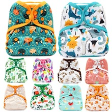 Asenapy One Size Diaper Cover Cloth Diapers Breathable PUL Baby Nappy S M L Adjustable Fit 8-35 Pounds Babies