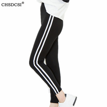 CHSDCSI Fitness Leggings Women Activewear Black Legging Spring Summer Light Grey Pant Autumn Elastic Mid Waist Casual Legging image