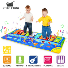 Tapete do jogo da dança de datafrog para crianças música piano 10 teclas musicais antiderrapante almofada da esteira da dança da multi função esteira da dança da música