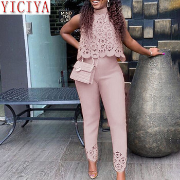 2020 Summer pink outfits for women matching sleeveless 2 piece set plus size clothing women tracksuit 2piece top and pant suits orange plus size 2 piece set women pant and top outfit tracksuit sportswear fitness co ord set 2019 summer large big clothing
