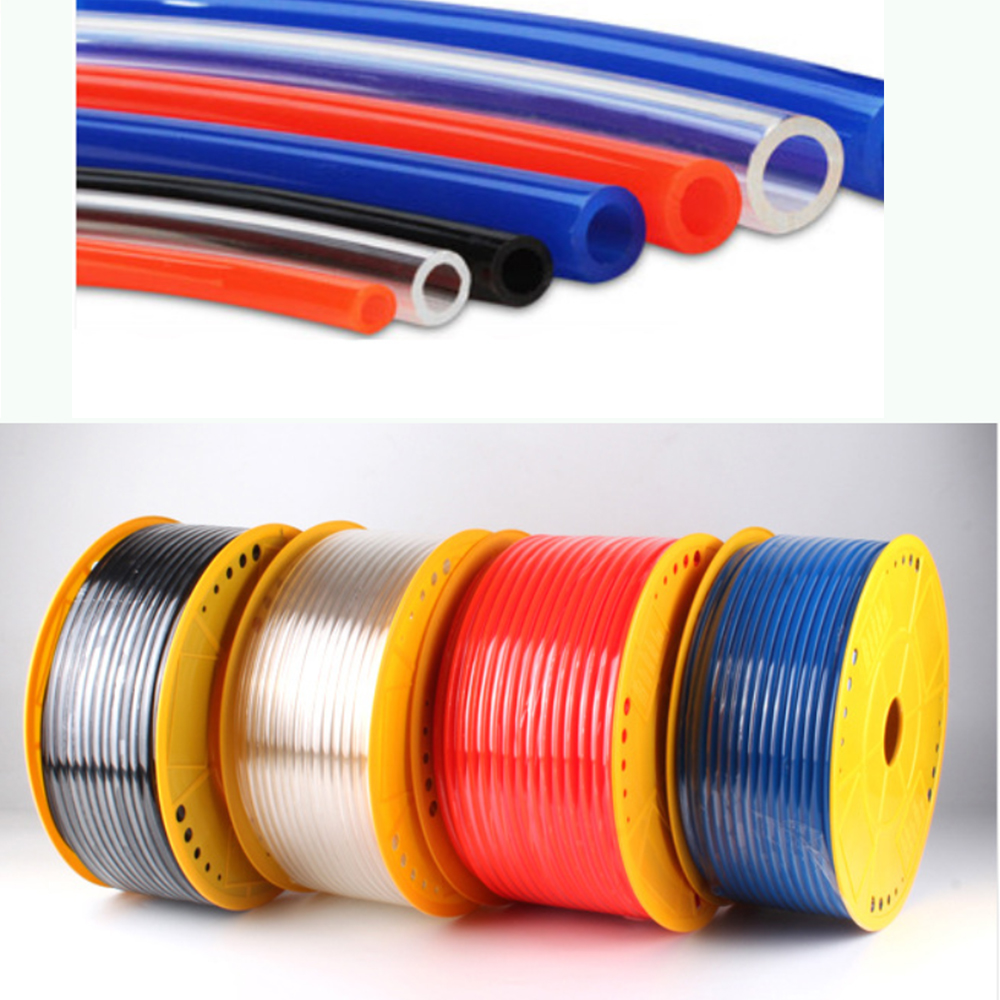 pneumatic pipe air hose air tubing 6mm pneumatic pipe pneumatic parts tube hose PU tube pneumatic air tube air pipe PU pipe(China)