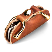 Hot Selling Multi Functional Vintage Novelty Key Storage Device Crafted Leather Key Bag -B5