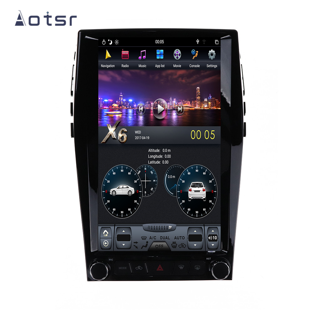 AOTSR Tesla 1 Din Android 9 Car Radio Coche For Ford Edge 2015 - 2019 Car Multimedia Player GPS Navigation CarPlay IPS AutoRadio image