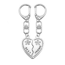 DIY Keychain For Women Girl Crystal Heart Shaped Puzzle Pendant Accessories Key Chain Charms Couple Jewelry Gift Dropshipping mix wings key chain charms for diy handmade gifts keychain flying wing jewelry