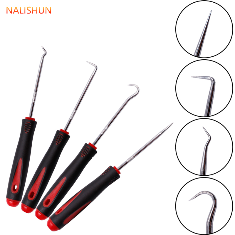 4Pcs Car Auto Vehicle Oil Seal Screwdrivers Set O-Ring Seal Gasket Puller Remover Pick Hooks Tools