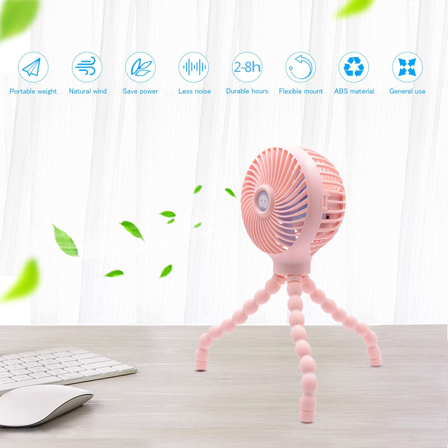 Ultimate Sale╫Cooler Fan Hanging-Stand Usb-Charging Adjustable Handheld Mini for Baby Stroller Student-Use