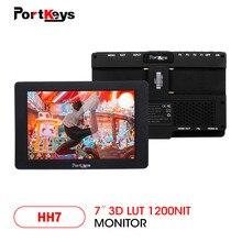 حافظات HH7 1200nit ضوء النهار 7 بوصة ثلاثية الأبعاد لوت 4K HDMI إشارة على كاميرا مراقبة مع رصد الرسم البياني لكاميرا dslr