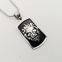 men cool silver Carving lion dog tag pendant hip hop necklace 316L Stainless steel lion dog tag necklace stylish men jewelry shiying jz014 men s stylish 316l stainless steel ring silver