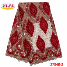 African Lace Fabric 2019 High Quality Lace Nigerian Lace Fabric Embroidery Tulle French Lace Material for Women Dress XY2784B-2(China)