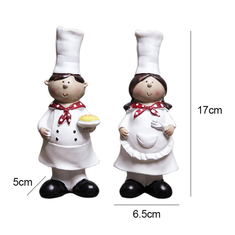 Best Offer 7d63 1 Pair Of Creative Boy Girl Chef Decoration