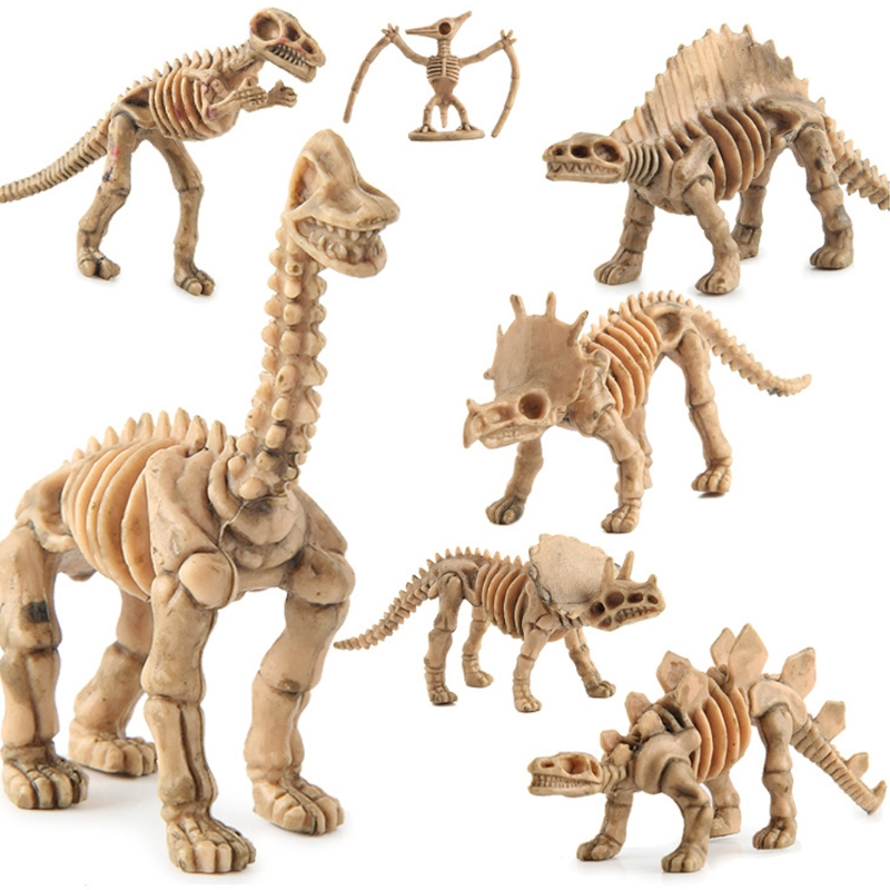 2018 12pcs Dinosaur Skeleton Fossils Assorted Bones Figures Toys Kids Christmas Gift Oct23_C