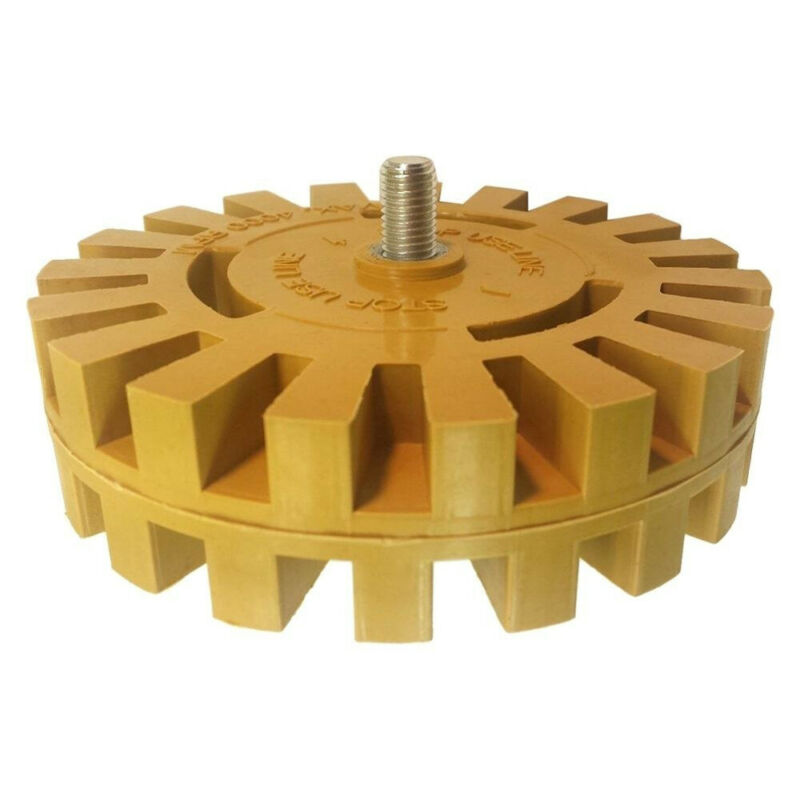 Removal Rubber Eraser Wheel CNC Metalworking Abrasive Decal Drill Adapter Pinstripe Polishing Durable