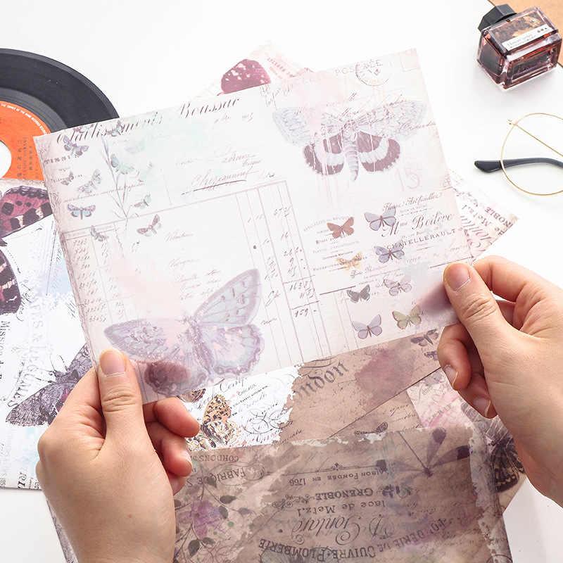 8 teile/paket Vintage Englisch Zeitung Dekoration Schwefelsäure Papier Dekorative DIY Album Tagebuch Scrapbooking Label Mode