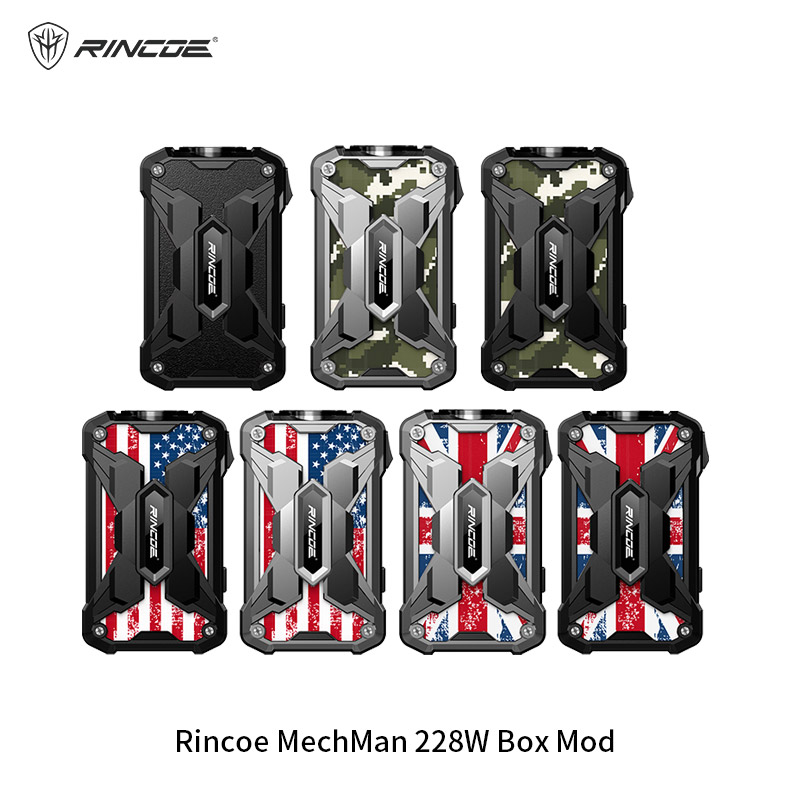 (out Of Stock) Rincoe Mechman 228W Box Mod Powered By Dual 18650 Battery Electronic Cigarette Vape Vaporizer VS VOOPOO DRAG