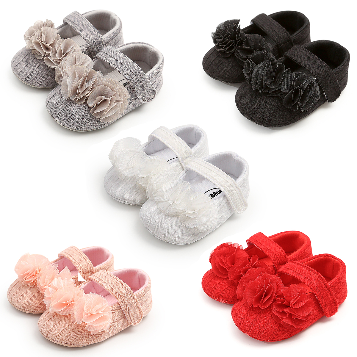 Autumn Baby Shoes Baby Girl Casual Shoes 0-18M Flower Casual Sneakers Toddler Soft Soled First Walkers Infant Shoes