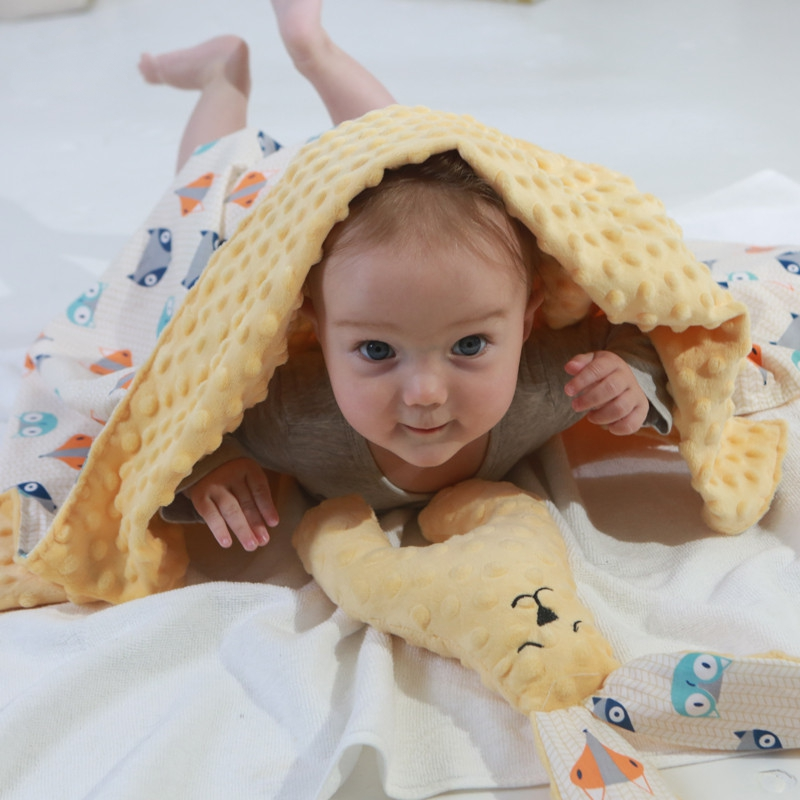 Baby Blanket & Swaddling Newborn Thermal Soft Fleece Blanket Solid Bedding Set Cotton Quilt 78x95CM