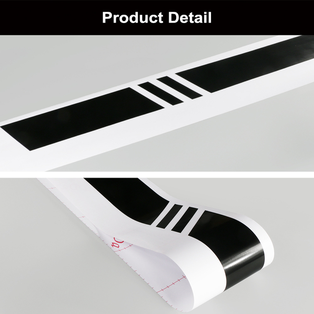 2pcs lot 220x8cm Stripe Style Side Stripes Car Both Body Stickers Decal Car Wrap Vinyl Film
