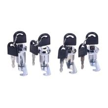1PCS Cam Cylinder Locks Door Cabinet Mailbox Drawer Cupboard Locker Security Furniture Locks With Plastic Keys Hardware