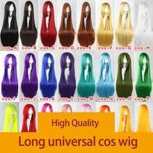 MUMUPI 100cm ארוך ישר פאה עמיד בחום סינטטי שיער פאה מסיבת קוספליי פאות אדום סגול ורוד שחור אפור