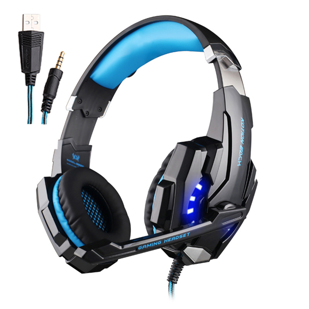 cheapest KOTION EACH USB Wired Gaming Headphones Game Earphones Deep bass Stereo Headset Casque with Microphone for Gamer PC Laptop PS4