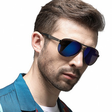 ZXRCYYL NEW High quality Men Retro Polarized Sunglasses Classic Brand Designer Driving Pilot Sun Glasses UV400