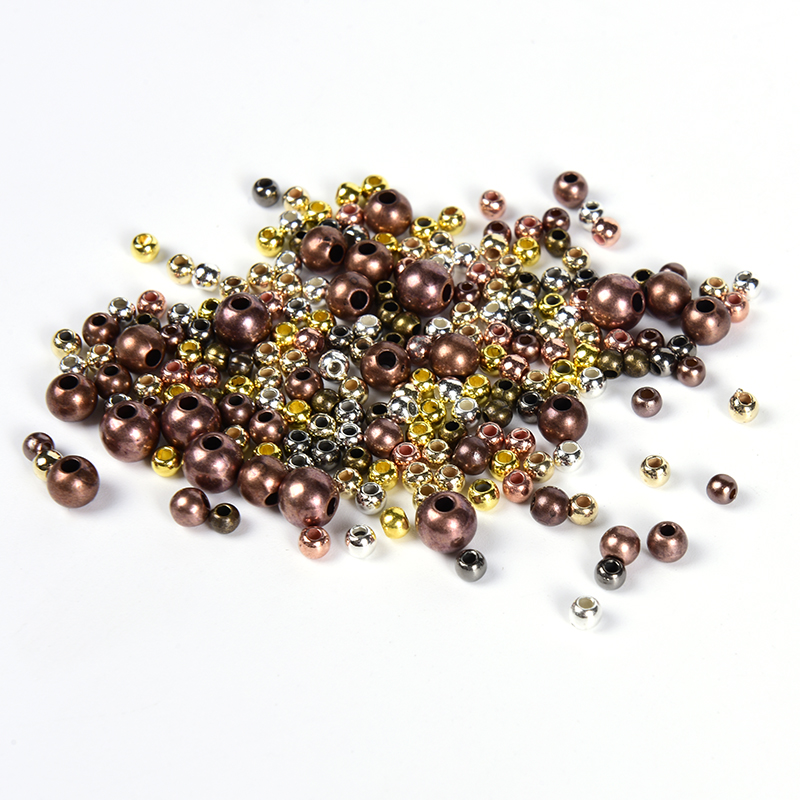 Ball End Seed Beads Metal Spacer Beads For Jewelry Making Wholesale 2-10mm