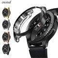 Чехол для samsung Galaxy watch 46 мм/42 мм, ремешок из ТПУ с покрытием, Защитная крышка для экрана, бампер S 3 42/46 мм Gear S3 Frontier band