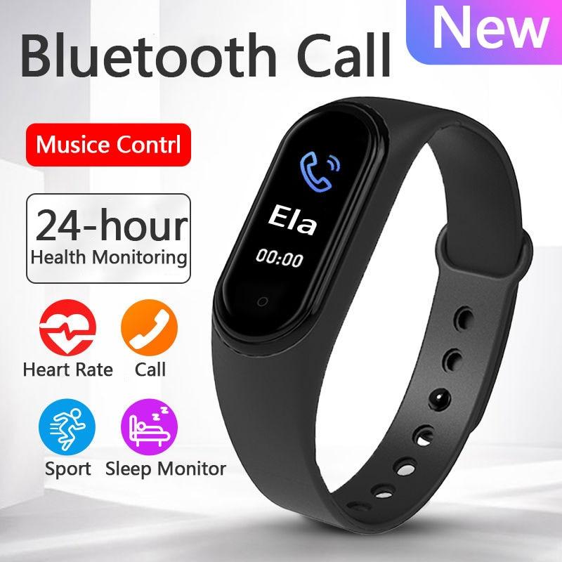 Смарт часы с Bluetooth для мужчин, спортивные часы, фитнес трекер, женские Смарт часы с функцией вызова, музыкальный браслет, Smartband M5, новинка 2020|Смарт-часы|   | АлиЭкспресс