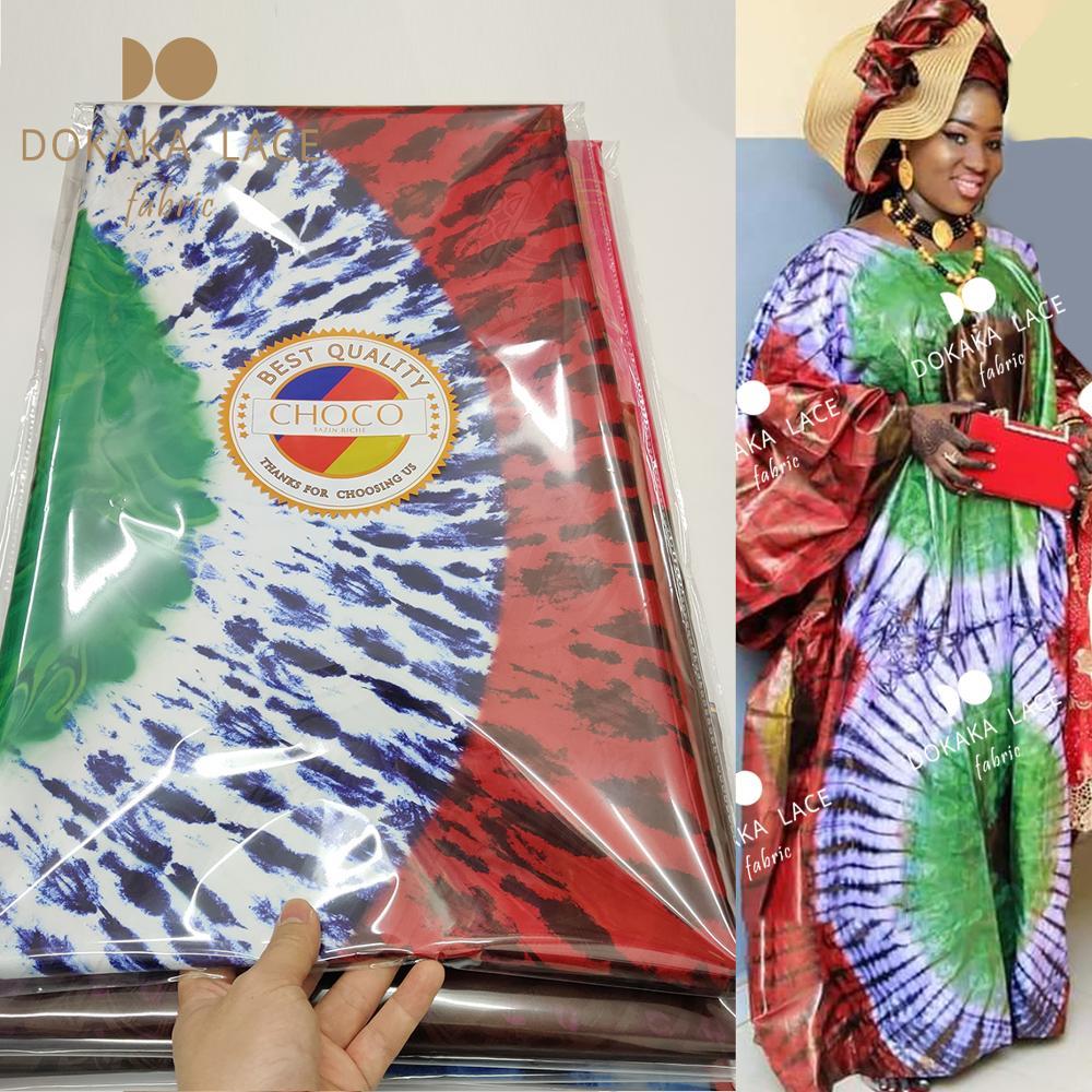 5 metre havzası Riche Tissu Dentelle 2020 yeni tasarım afrika dantel kumaş jakarlı dikiş nijeryalı elbiseler Bazin Riche malzeme