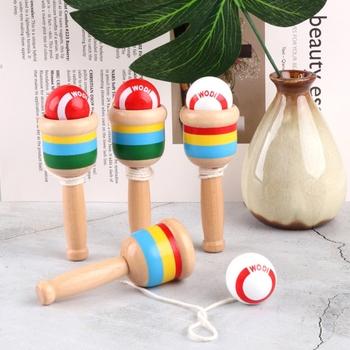 1PC Mini realistyczna japońska zabawka Kendama dla dziecka nauka odkrywanie gra trenująca mózg piłka interaktywna ciąg piłka puchar zestaw zabawek tanie i dobre opinie 25-36m 4-6y 7-12y 12 + y CN (pochodzenie) Drewna XX9F11JJ300210 Do rozwoju spostrzegawczości (kolorów kształtów dźwięków widzenia)