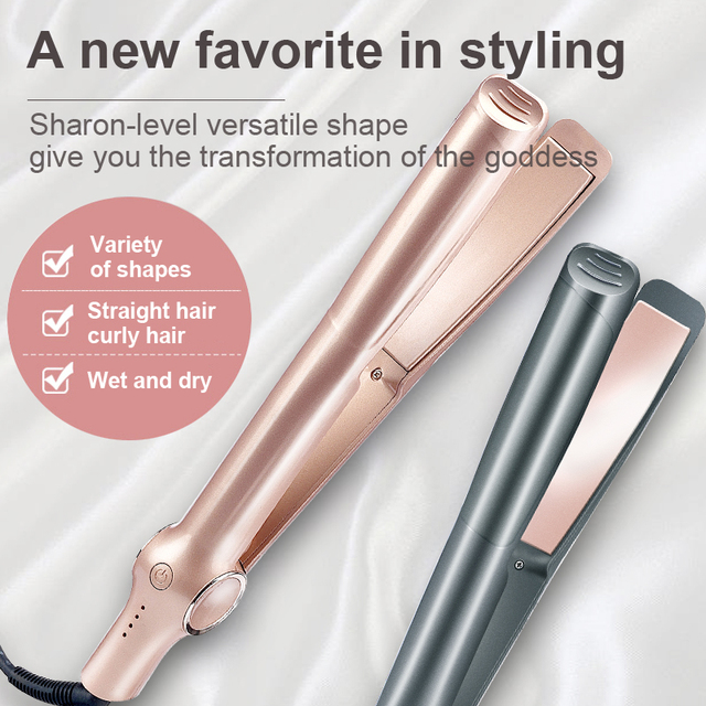 New Spiral Hair Straightener Curling And Straightening Dual-purpose Splint Four-speed Temperature Control Curling Iron 1