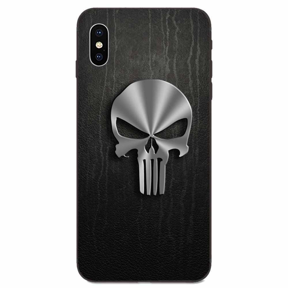 Bien Punisher arte del cráneo caso del TPU para el caso de Huawei Mate 9 10 20 P8 P9 P10 P20 P30 Lite Juego Mini Pro P smart Plus Z 2017 de 2019