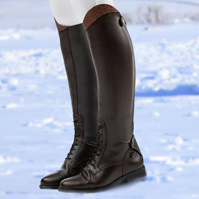 Womens Winter Retro Slip On Equestrian Riding Boots 2