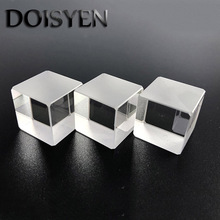 High quality K9 Beam splitter cube prism Dia10/15/20/25.4/25/30mm T:R 50:50@400-700nm Laser Cube Prism For Beam  Free Shipping цена 2017