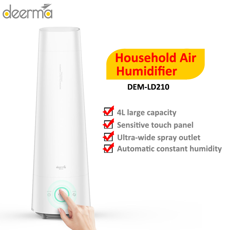2020 Newest Deerma DEM - LD210 4L Air Humidifier Cool Mist Aromatherapy Mute Air Diffuser Purifier Low Noise For Bedroom