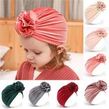 Toddler Kids Baby Headband  Girl Headbands Pleuche Knot BowsTurban Hair Accessories