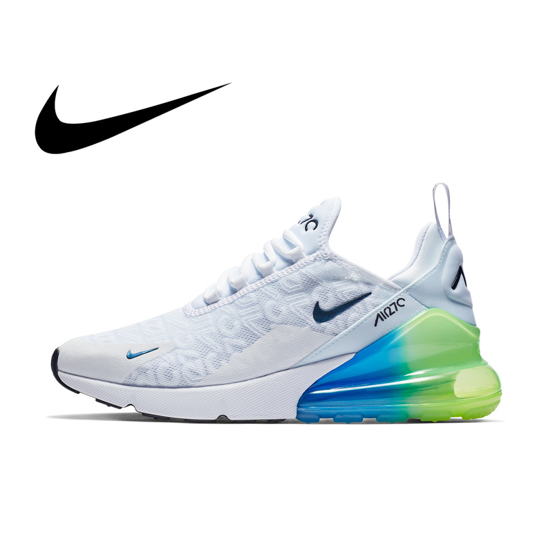 Original Nike Air Max 270 Men's Running Shoes Sneakers Outdoor Sport Breathable Lace-up Jogging Walking Designer Athletic AH8050