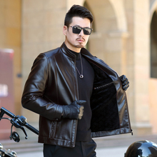 New arrive brand motorcycle leather jacket men men's leather