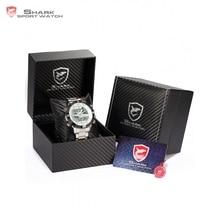 SHARK Sport Watch Dual Time Digital Steel Porbeagle Calendar Alarm Stopwatch Men