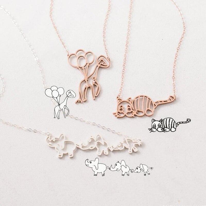 Customized Children's Kid's Drawing Bracelet Kid Artwork Personalized Bracelet Custom Name Jewelry Christmas GIFT For Kids