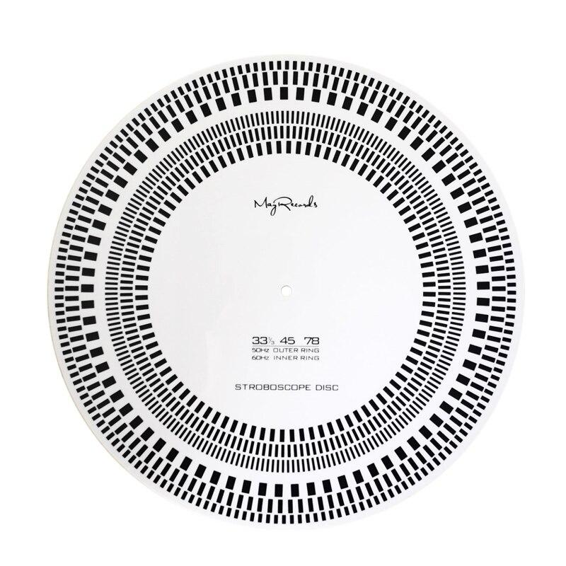 New LP Vinyl Record Turntable Phono Tachometer Calibration Strobe Disc Stroboscope Mat 33 45 78 RPM