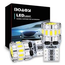 Canbus Car 3014 SMD T10 LED W5W Projector Lens Auto Lamp Light Bulbs For Skoda Superb Octavia A7 A5 2 Fabia Rapid Yeti
