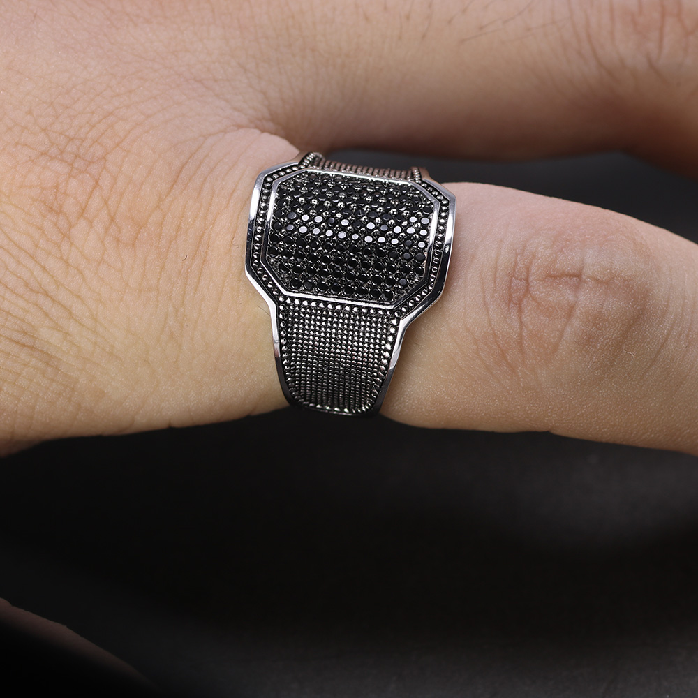 Купить однотонные серебряные кольца 925 пробы крутое ретро винтажное