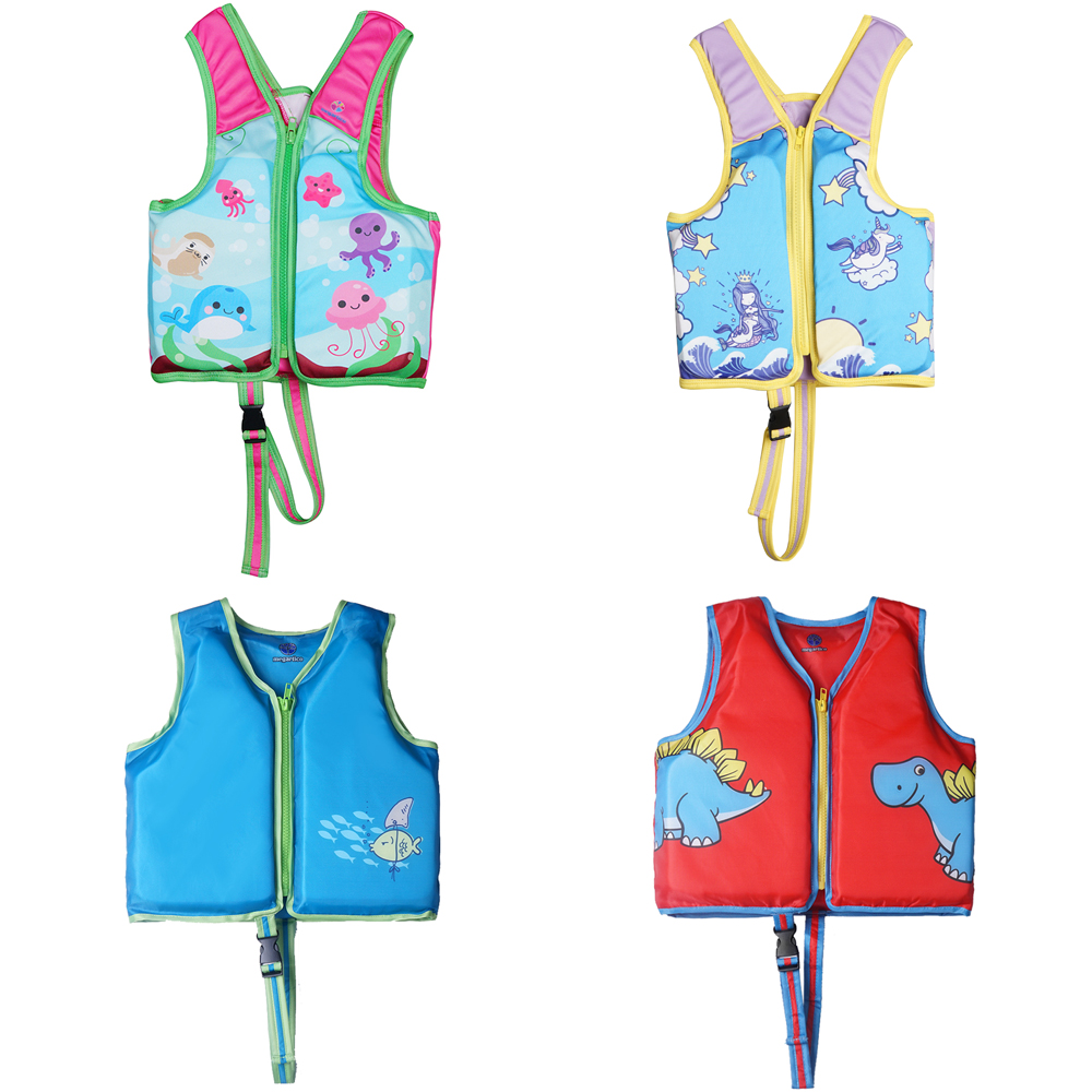 Megartico Life Vest Kids Children Zwemvest Voor Kids Flower Shark Printed Life Jacket Kayak Pool Beach Swimming Child Lifesaver