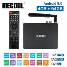 Mecool K7 DVB S2 DVB T2 DVB C Android 9.0 Tv Box 4G 64G Amlogic S905X2 2.4G/5G wifi Usb 3.0 Smart Tv Box Media Player