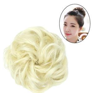 Encaracolado scrunchie chignon cabelo feminino bun extensão ondulado encaracolado bagunçado peruca casamento noiva elástico hairpiece para cabelo bun rabo de cavalo