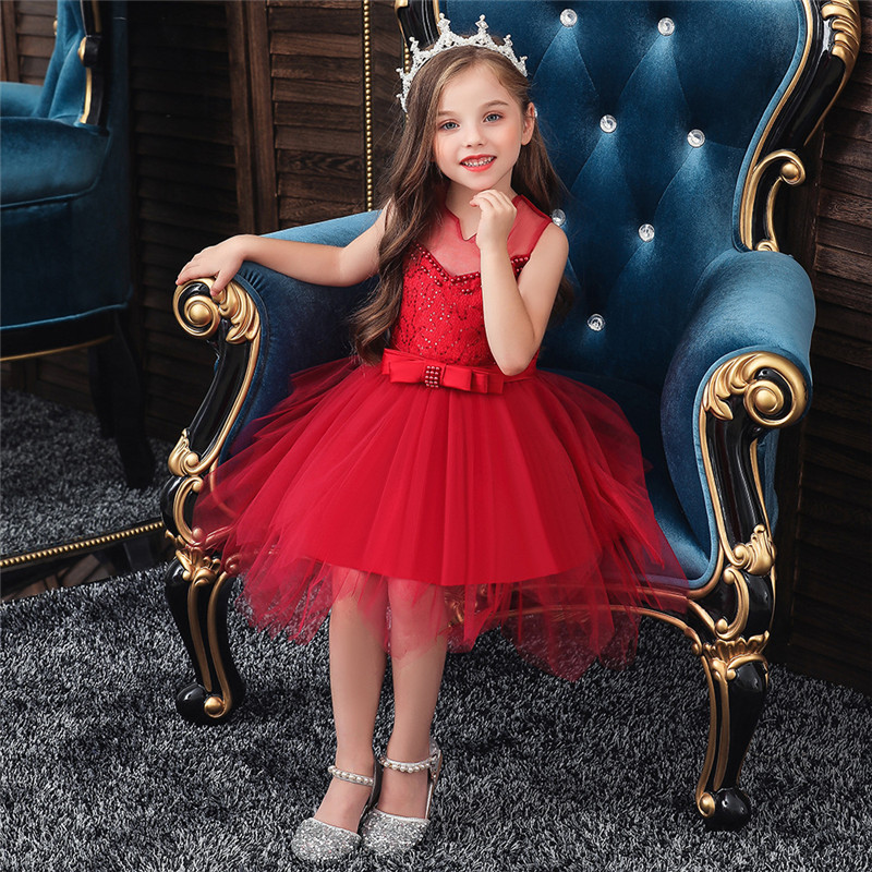 Summer Infant Baby Girl Dress Lace Embroidery Baptism Dresses for Girls 0-10 Year Birthday Party Wedding Baby Clothing